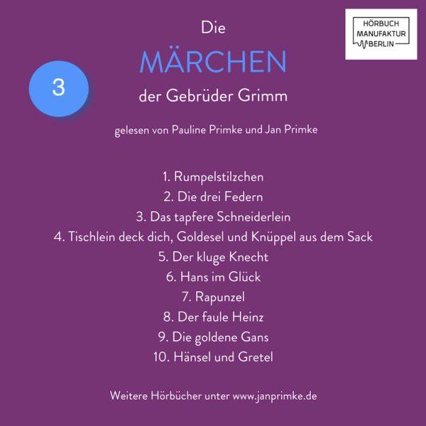 Die Märchen der Gebrüder Grimm Hörbuch Band 3