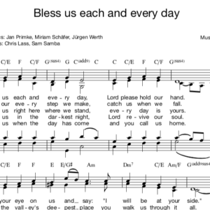 Bless us each and every Day - German blessing