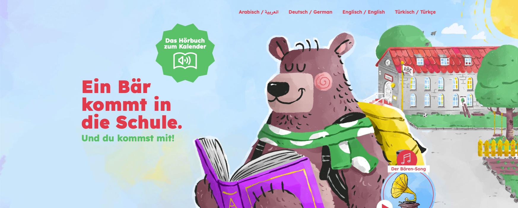 Ein Bär kommt in die Schule