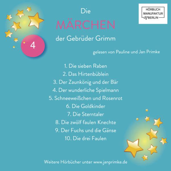 Die Märchen der Gebrüder Grimm - Vol 4 - Rückseite